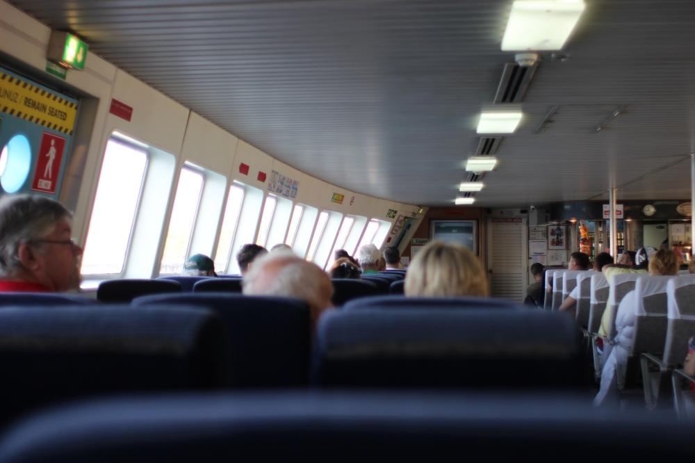 Yeşil Marmaris feribotunun içi
