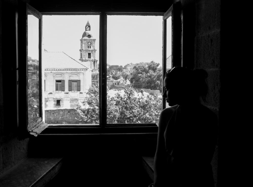 Saray'ın penceresinden Rodos binaları