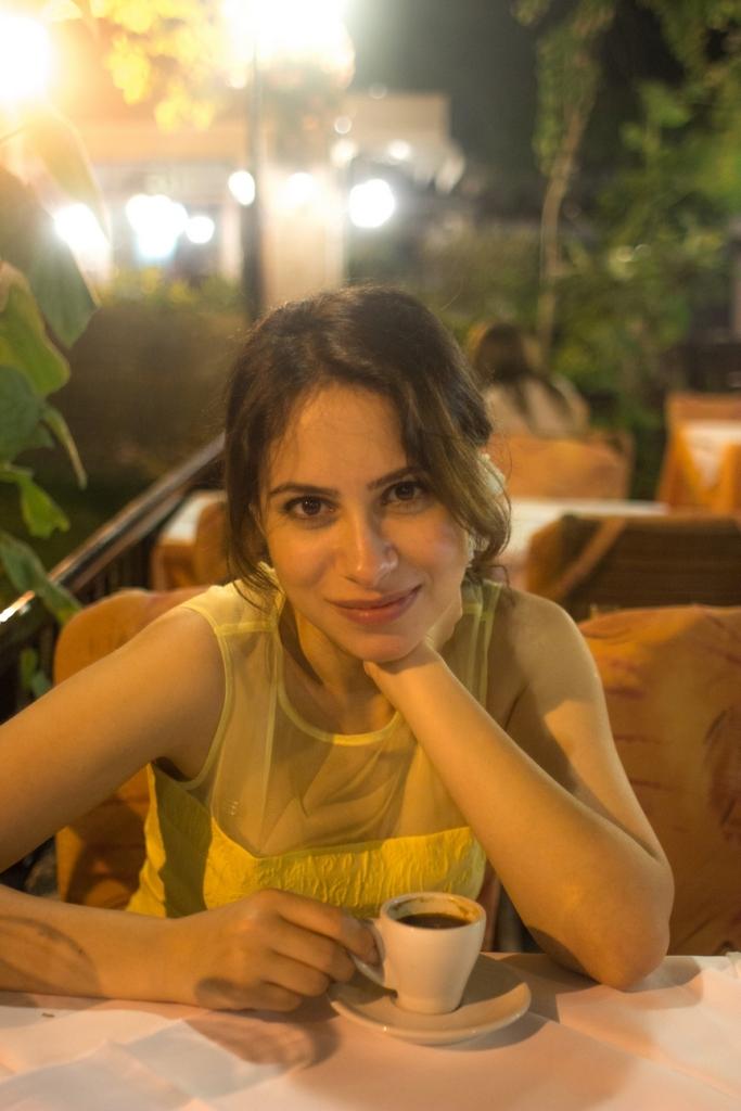 Yemek sonrası Türk (Yunan!?) kahvesi keyfi