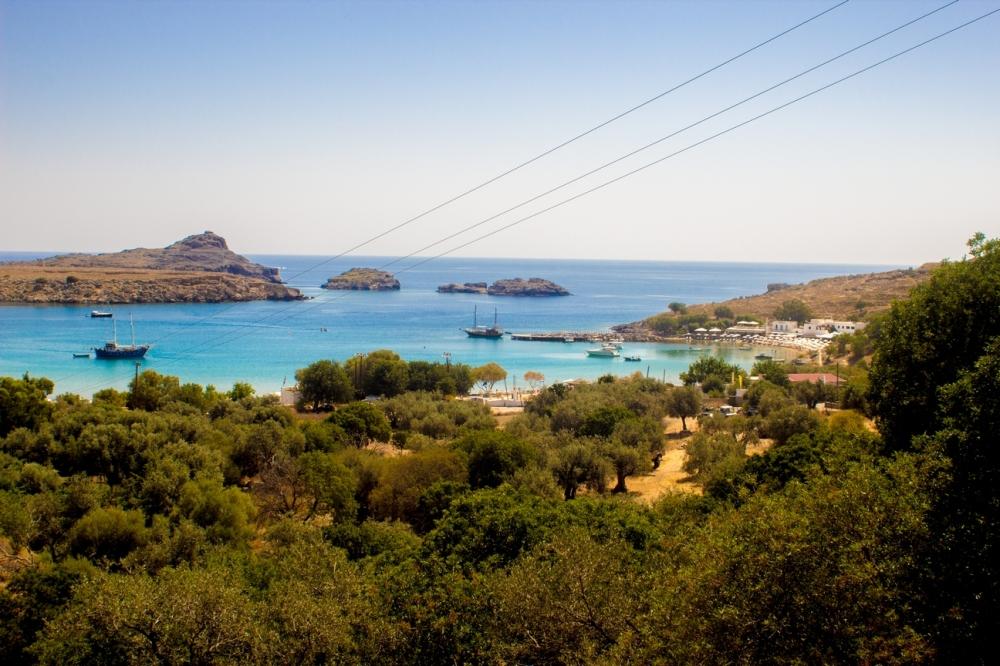 Otopark'tan Lindos Manzarası